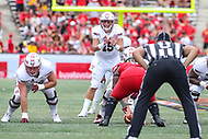 College Park, MD - September 15, 2018: Temple Owls quarterback Anthony Russo (15) calls a play during the game between Temple and Maryland at  Capital One Field at Maryland Stadium in College Park, MD.  (Photo by Elliott Brown/Media Images International)