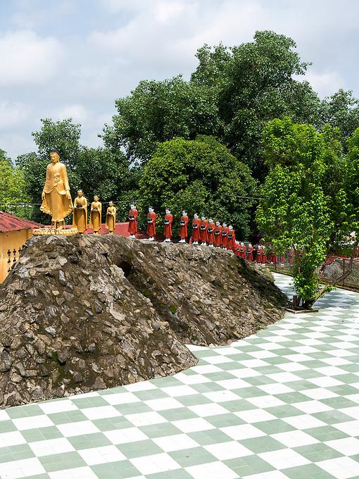 Kyauktaw Mahamuni Temple, Rakhine State, Myanmar, Burma