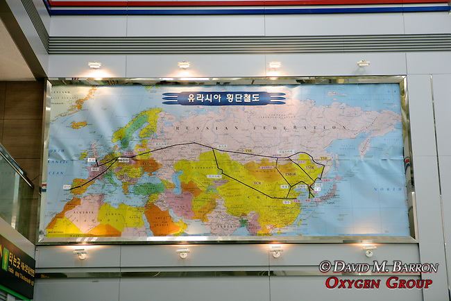Map at Dorasan Station