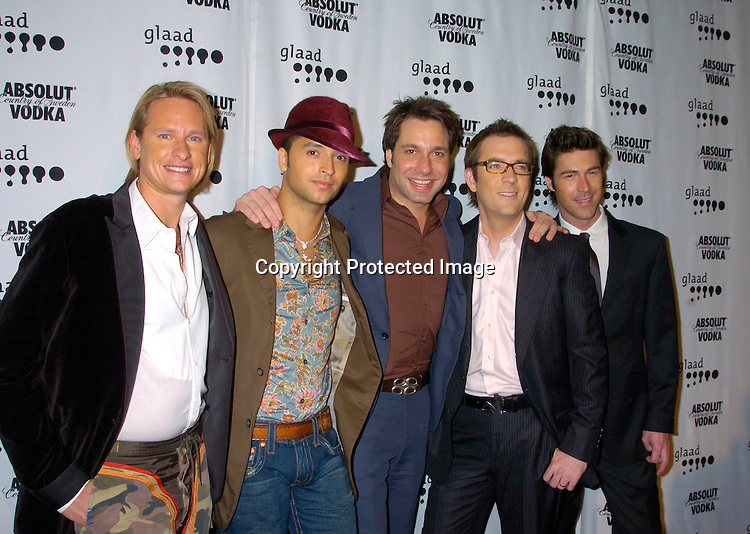 Queer Eye For The Straight Cast ..at the 15th Annual GLAAD Media Awards on April 12, 2004 ..at the Marriott Marquis Hotel. ..Photo by Robin Platzer, Twin Images