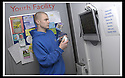 01/02/2008    Copyright Pic: James Stewart.File Name : 02_xpod.FALKIRK COUNCIL :: XPOD.YOUTH WORKER KEVIN CLOUGH IN THE XPOD AT FALKIRK MEADOWS.....James Stewart Photo Agency 19 Carronlea Drive, Falkirk. FK2 8DN      Vat Reg No. 607 6932 25.Studio      : +44 (0)1324 611191 .Mobile      : +44 (0)7721 416997.E-mail  :  jim@jspa.co.uk.If you require further information then contact Jim Stewart on any of the numbers above........