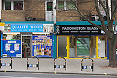 Westbourne Parade after shopfront, pavement and street furniture improvement scheme.
