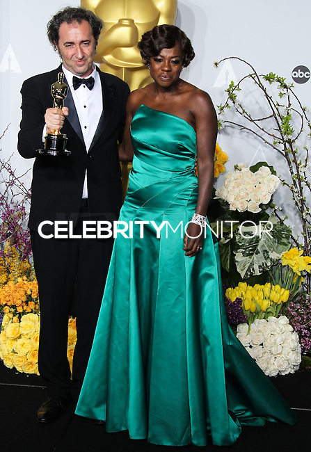 HOLLYWOOD, LOS ANGELES, CA, USA - MARCH 02: Paolo Sorrentino, Viola Davis at the 86th Annual Academy Awards - Press Room held at Dolby Theatre on March 2, 2014 in Hollywood, Los Angeles, California, United States. (Photo by Xavier Collin/Celebrity Monitor)