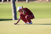 Ashun Wu (CHN) on the 16th green during Friday's Round 2 of the 2018 Turkish Airlines Open hosted by Regnum Carya Golf &amp; Spa Resort, Antalya, Turkey. 2nd November 2018.<br /> Picture: Eoin Clarke | Golffile<br /> <br /> <br /> All photos usage must carry mandatory copyright credit (&copy; Golffile | Eoin Clarke)