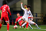 (L-R) <br /> Kim Yun Mi (PRK), <br /> Han Chaerin (KOR), <br /> DECEMBER 11, 2017 - Football / Soccer : <br /> EAFF E-1 Football Championship 2017 Women's Final match <br /> between North Korea 1-0 South Korea <br /> at Fukuda Denshi Arena in Chiba, Japan. <br /> (Photo by Naoki Nishimura/AFLO)