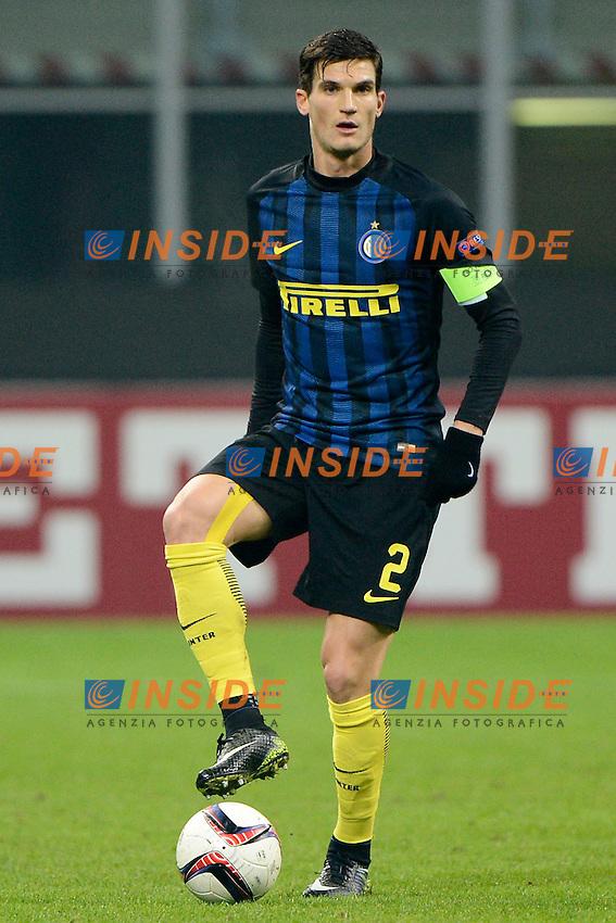 Marco Andreolli Inter<br /> Milano 8-12-2016 Stadio Giuseppe Meazza - Football Calcio Europa League Inter - Sparta Praga. Foto Giuseppe Celeste / Insidefoto