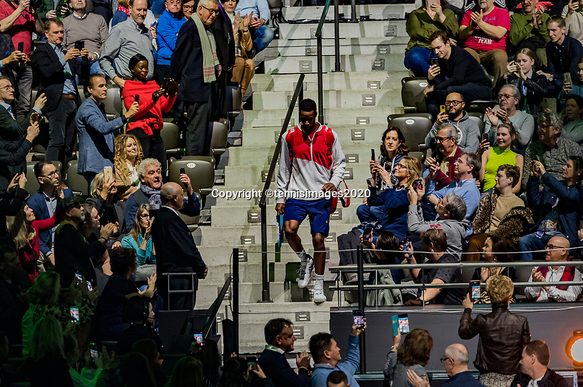 Rotterdam, The Netherlands, 16 Februari 2020, ABNAMRO World Tennis Tournament, Ahoy,<br /> Mens Final: Gaël Monfils (FRA) makes his entrance<br /> Photo: www.tennisimages.com