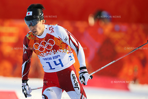Hideaki Nagai (JPN), <br /> FEBRUARY 12, 2014 - Nordic Combined : <br /> Individual Gundersen NH/10km <br /> at &quot;RUSSKI GORKI&quot; Jumping Center <br /> during the Sochi 2014 Olympic Winter Games in Sochi, Russia. <br /> (Photo by Yohei Osada/AFLO SPORT)