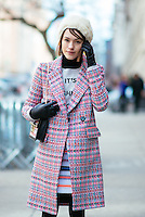 Ella Catliff attends Day 4 of New York Fashion Week on Feb 16, 2015 (Photo by Hunter Abrams/Guest of a Guest)