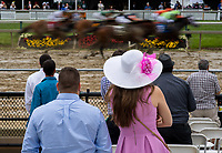 BALTIMORE, MD - MAY 20: Race fans watch undercard racing on Preakness Stakes Day at Pimlico Race Course on May 20, 2017 in Baltimore, Maryland.(Photo by Scott Serio/Eclipse Sportswire/Getty Images)