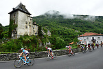 The breakaway group during Stage 12 of the 104th edition of the Tour de France 2017, running 214.5km from Pau to Peyragudes, France. 13th July 2017.<br /> Picture: ASO/Alex Broadway | Cyclefile<br /> <br /> <br /> All photos usage must carry mandatory copyright credit (&copy; Cyclefile | ASO/Alex Broadway)