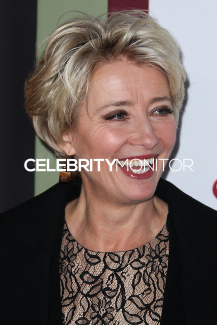 "BURBANK, CA - DECEMBER 09: Actress Emma Thompson arrives at the U.S. Premiere Of Disney's ""Saving Mr. Banks"" held at Walt Disney Studios on December 9, 2013 in Burbank, California. (Photo by Xavier Collin/Celebrity Monitor)"