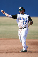 April 5, 2009:  /2b/ Brad Agustin (17) of the University of Buffalo Bulls during a game at Amherst Audubon Field in Buffalo, NY.  Photo by:  Mike Janes/Four Seam Images