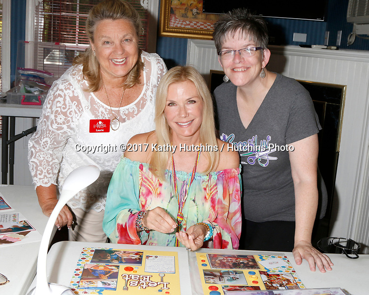 "LOS ANGELES - JUL 1:  Laurie Kagan, Katherine Kelly Lang, Jody McNelis at the ""Crops of Luv"" Scrapbooking Event at the Apples Bed and Breakfast Inn on July 1, 2017 in Big Bear Lake, CA"