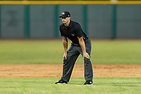 Field umpire Brandon Dinslage during an Arizona League game between the AZL Padres 1 and the AZL Cubs 1 at Sloan Park on July 5, 2018 in Mesa, Arizona. The AZL Cubs 1 defeated the AZL Padres 1 3-1. (Zachary Lucy/Four Seam Images)