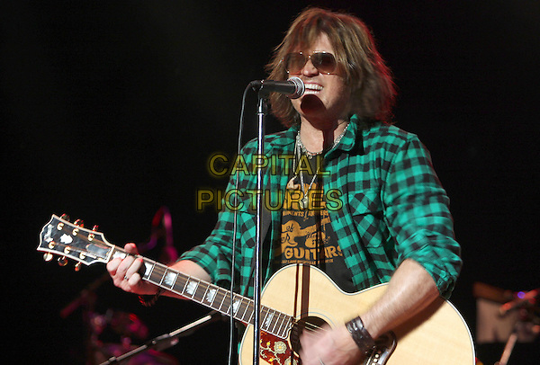 BILLY RAY CYRUS .Special performance during a sold-out show at the world famous Wildhorse Saloon, Nashville, Tennessee, USA..December 27th, 2008.half length stage concert live gig music black singing guitar sunglasses shades green .CAP/ADM/RR.©Randi Radcliff/AdMedia/Capital Pictures.