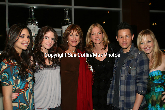 OLTL's Camila Banus - Brittany Underwood - Hillary B. Smith - Kassie DePaiva - Jason Tam - Justis Bolding at the 16th Annual Feast with Famous Faces to benefit the League for the Hard of Hearing on October 27, 2008 at Pier Sixty at Chelsea Piers, New York City, New York. (Photo by Sue Coflin/Max Photos)