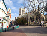 Holy Trinity church and the Kingston pub, Hull, Yorkshire, England