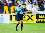 Solna 2014-07-12 Fotboll Allsvenskan AIK - Kalmar FF :  <br /> domare Michael Lerj&eacute;us reagerar<br /> (Foto: Kenta J&ouml;nsson) Nyckelord:  AIK Gnaget Friends Arena Kalmar KFF portr&auml;tt portrait