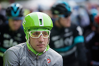 POC green Cannonale rider/astronaut Nathan Brown at the start<br /> <br /> 102nd Li&egrave;ge-Bastogne-Li&egrave;ge 2016