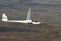 4415 / Nimbus 3 T: AFRIKA, SUEDAFRIKA, 09.01.2007:Offene Klasse Flugzeug Nimbus 3T ueber der Wueste Karoo