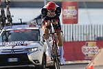 Vegard Stake Laengen (NOR) UAE Team Emirates during Stage 1 of the La Vuelta 2018, an individual time trial of 8km running around Malaga city centre, Spain. 25th August 2018.<br /> Picture: Eoin Clarke | Cyclefile<br /> <br /> <br /> All photos usage must carry mandatory copyright credit (© Cyclefile | Eoin Clarke)