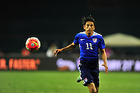 Alejandro Bedoya of US tracks the ball. USA defeated Peru 2-1 during a Friendly Match at the RFK Stadium in Washington, D.C. on Friday, September 4, 2015.  Alan P. Santos/DC Sports Box
