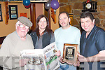 LOCALS: Locals of the Junction Bar, Camp who were presented with the Irish Race Pub of the year 2007. Front l-r: John Bowe, Bernadette and Mike Fitzgerald (Proprietors). Back l-r: Dave Cragg, Les Bell, Sean Quirke, Pat Moore, Tom Herlihy, Martin Crean, Sean Stepney, John Doyle, Carol Goodwin and Pauline Bell.   Copyright Kerry's Eye 2008