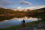 Enjoying sunrise (5AM) at Sprague Lake, <br />