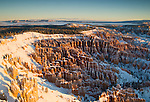 The view from Inspiration Point, Bryce Canyon National Park, Utah, USA,  December 7, 2007.  Photo by Gus Curtis.