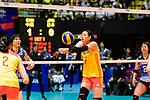 Ni Yan of China (C)  passes the ball during the match between China and Japan on May 30, 2018 in Hong Kong, Hong Kong. (Photo by Power Sport Images/Getty Images)