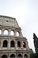 ROMA-ITALIA- 01-09-2012. Coliseo Romano en Roma, Italia, septiembre 01 de 2012. Roman Colisseum in Rome Italy on September 01, 2012. (Photo: VizzorImage/Luis Ramirez)...............