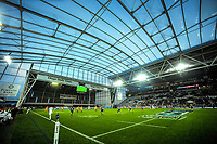 A general view during the Super Rugby match between the Highlanders and Jaguares at Forsyth Barr Stadium in Dunedin, New Zealand on Saturday, 11 May 2019. Photo: Dave Lintott / lintottphoto.co.nz