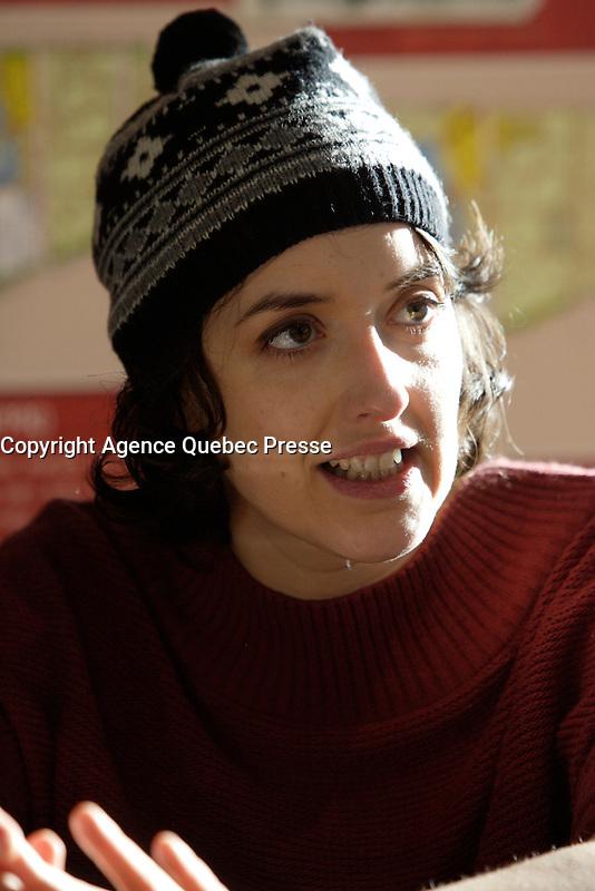 EXCLUSIVE PHOTO of singer Marie-Pierre Arthur in 2012.<br /> <br /> <br /> NO SALE IN CANADA