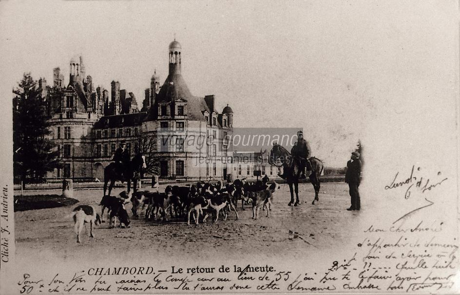 Europe/France/Centre/41/Loir-et-Cher/Sologne/Romorantin-Lanthenay : Carte postale - Scène de chasse - Collection du musée de Sologne