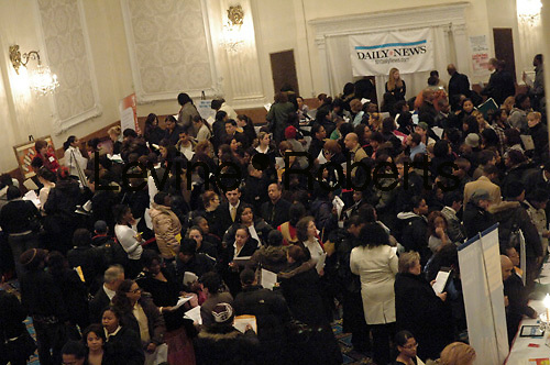 Daily News Health Job Fair at The New Yorker Hotel  on January 30, 2008.  (© Frances Roberts)