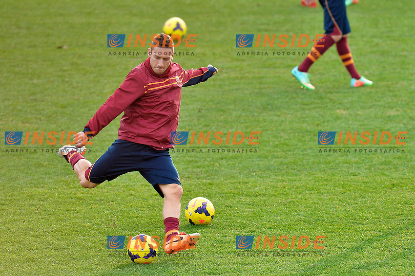 Francesco Totti <br /> Roma 03-01-2014 Trigoria, As Roma training. Allenamento - Football Calcio Serie A 2013/2014  Foto Andrea Staccioli / Insidefoto