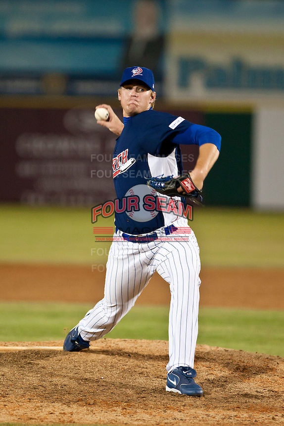 Aaron Shafer of the Daytona Cubs during the Florida State League All Star Game on June 12 2010 at Space Coast Stadium in Viera, FL (Photo By Scott Jontes/Four Seam Images)