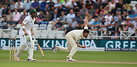 England's Mark Wood<br /> <br /> Photographer Stephen White/CameraSport<br /> <br /> Investec Test Series 2017 - Second Test - England v South Africa - Day 1 - Friday 14th July 2017 - Trent Bridge - Nottingham<br /> <br /> World Copyright &copy; 2017 CameraSport. All rights reserved. 43 Linden Ave. Countesthorpe. Leicester. England. LE8 5PG - Tel: +44 (0) 116 277 4147 - admin@camerasport.com - www.camerasport.com