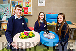 Patrick Kelliher, Ciara Mulvihill and Orna Saddlier (Pactyres), students attending St. Joseph's Secondary School, Ballybunion, pictured at the final of the Kerry County Council Annual Student Enterprise Awards at IT Tralee, North Campus on Friday last.