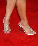 "Actress Tamala Jones 's shoes at The World Premiere of Columbia Pictures' ""Hancock"" at the Grauman's Chinese Theatre on June 30, 2008 in Hollywood, California."