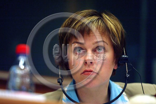 BRUSSELS -BELGIUM - 11 JULY 2006 -- Paula LEHTOMAKI (Lehtomäki), Finnish Minister for Foreign Trade and Development, President-in-Office of the Development Council. Meeting with and exchange of views with the members of EP Committee on Development. PHOTO: ERIK LUNTANG / EUP-IMAGES