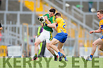 Paul Murphy Kerry in action against Dean Ryan Clare in the Munster Senior Football Championship at Fitzgerald Stadium in Killarney on Sunday.