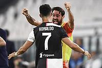 20th July 20202, Allianz Stadium, Turin, Italy; Serie A football league, Juventus versus Lazio; esultanza gol Cristiano Ronaldo  celebrates scoring his 2nd goal for 2-0 in the 54th minute