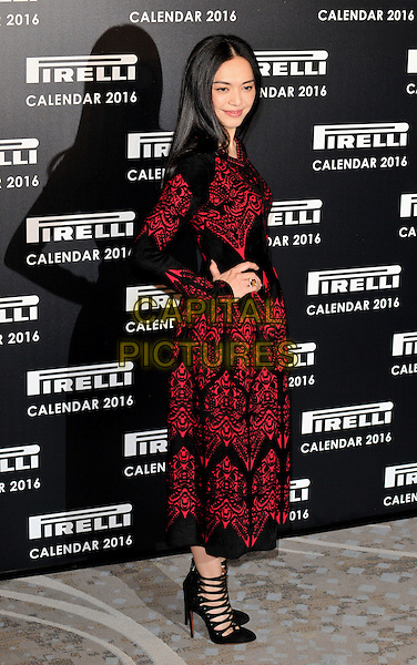 Yao Chen attends the 2016 Pirelli Calendar news conference &amp; photocall, Grosvenor House Hotel, Park Lane, London, UK, on Monday 30 November 2015.<br /> CAP/CAN<br /> &copy;CAN/Capital Pictures