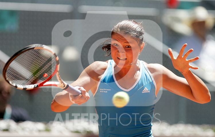 Russia's Dinara Safina during her Madrid Open final match. May 16, 2009. (ALTERPHOTOS/Alvaro Hernandez)