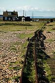 Broken tracks on Dungeness Beach