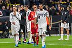 09.10.2019, Signal Iduna Park, Dortmund, GER, FSP, LS, Deutschland (GER) vs Argentinien (ARG)<br /> <br /> DFB REGULATIONS PROHIBIT ANY USE OF PHOTOGRAPHS AS IMAGE SEQUENCES AND/OR QUASI-VIDEO.<br /> <br /> im Bild / picture shows<br /> <br /> enttäuscht / enttaeuscht / traurig / Unentschieden<br /> Gestik, Mimik,<br /> Robin Koch (Deutschland / GER #04)<br /> Marc-André ter Stegen (Deutschland / GER #22)<br /> Emre Can (Deutschland / GER #23)<br /> <br /> während Freundschaftsspiel  Deutschland gegen Argentinien   in Dortmund  am 09.10..2019,<br /> <br /> Foto © nordphoto / Kokenge