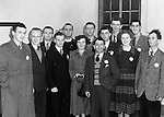 Members of The Gaelic League pictured at a meeting in the Town Hall, Killarney in the 1950's. From left, -.-, JK O'Brien, -.-, C Tobin, Brother Peadar, Eileen Scott, Michael Fleming, P O'Donoghue, -,-, Con Counihan, Brid Ni Laoire, -,-, and Matt Leahy.<br /> Picture by Harry MacMonagle