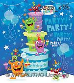 Sarah, CHILDREN BOOKS, BIRTHDAY, GEBURTSTAG, CUMPLEAÑOS, paintings+++++MonsterBday-17-A,USSB475,#BI#, EVERYDAY